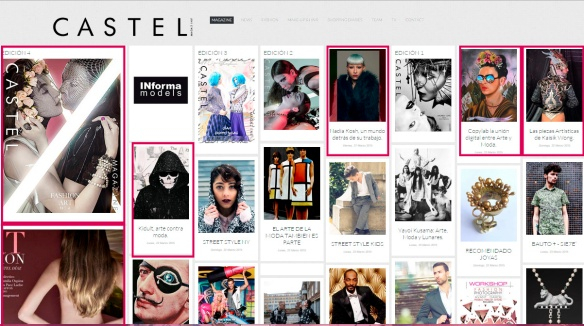 Castel Magazine, editorial y artículos.
