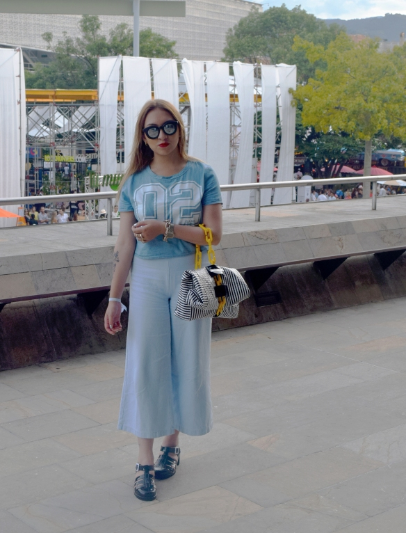 Denim tendencias look danielastyling street style colombiamoda 3