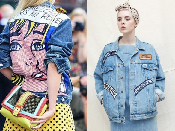 alerta tendencia - parches - colombia - danielastyling - outfit denim patch jacket pop art
