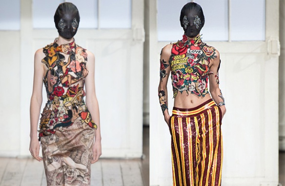 alerta tendencia - parches - colombia - danielastyling - outfit denim patch maison martin margiela 2014