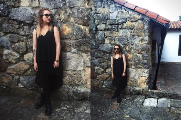 Danielastyling outfit post outfit bogota fashion total black - colombian blogger 12